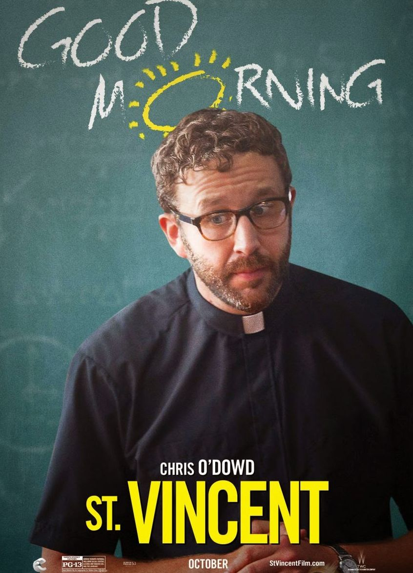 Chris O'Dowd as Brother Geraghty character poster - St. Vinc