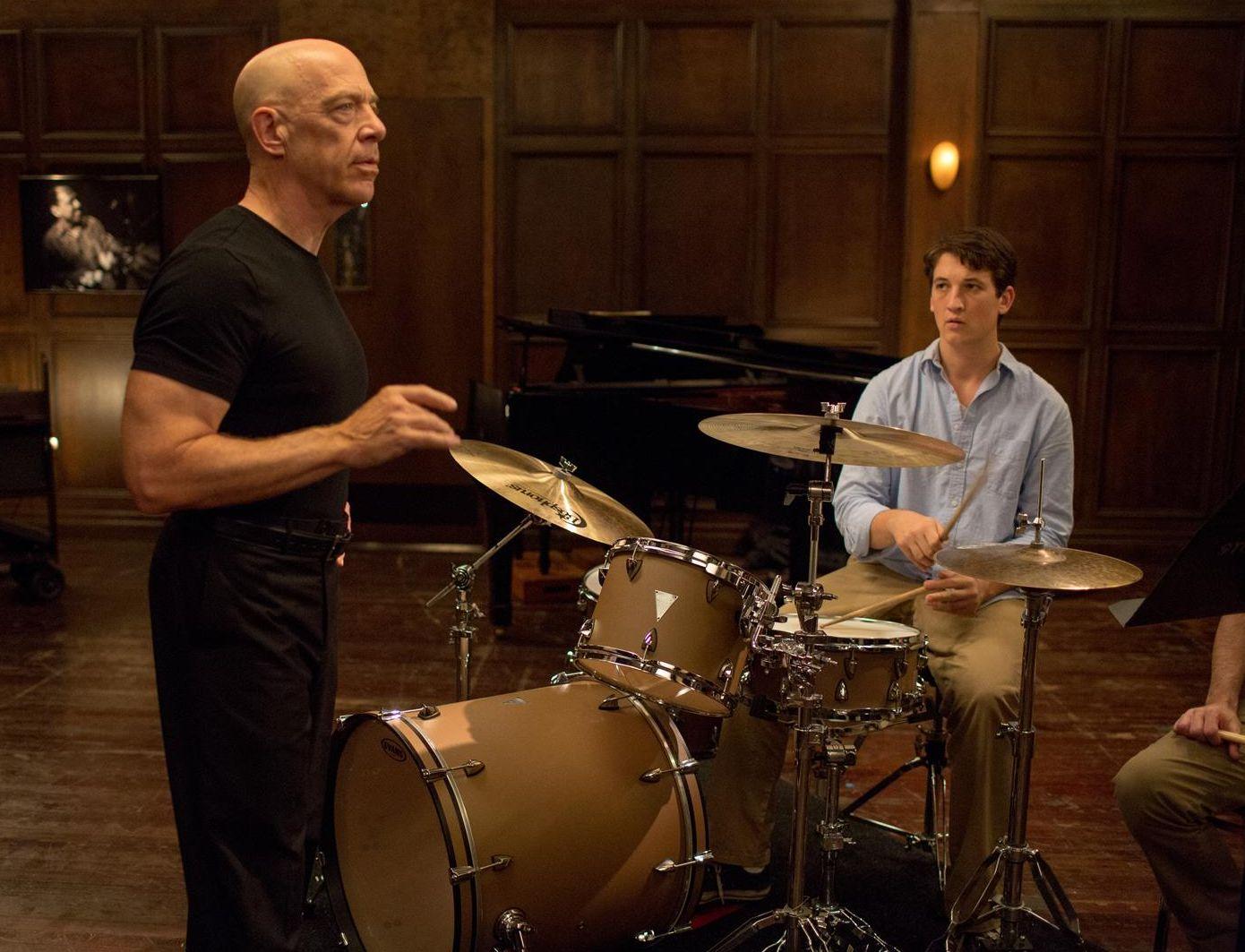 Andrew and Fletcher practice in Whiplash