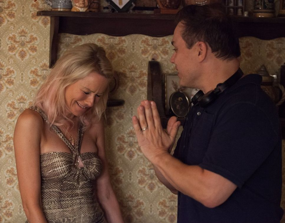 Naomi Watts and Theodore Melfi have a laugh on the St. Vince