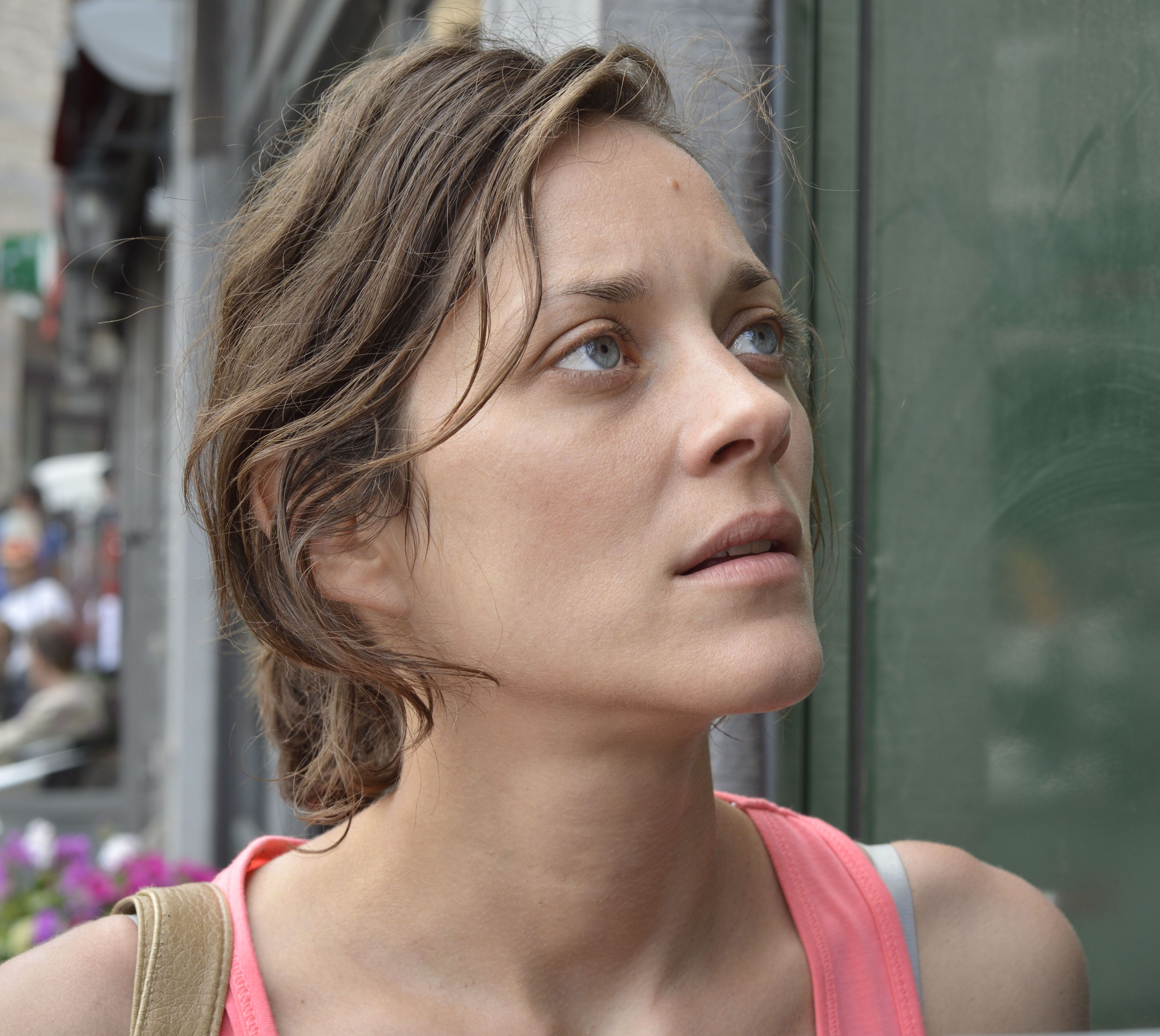 Close-up of Marion Cotillard in Two Days, One Night