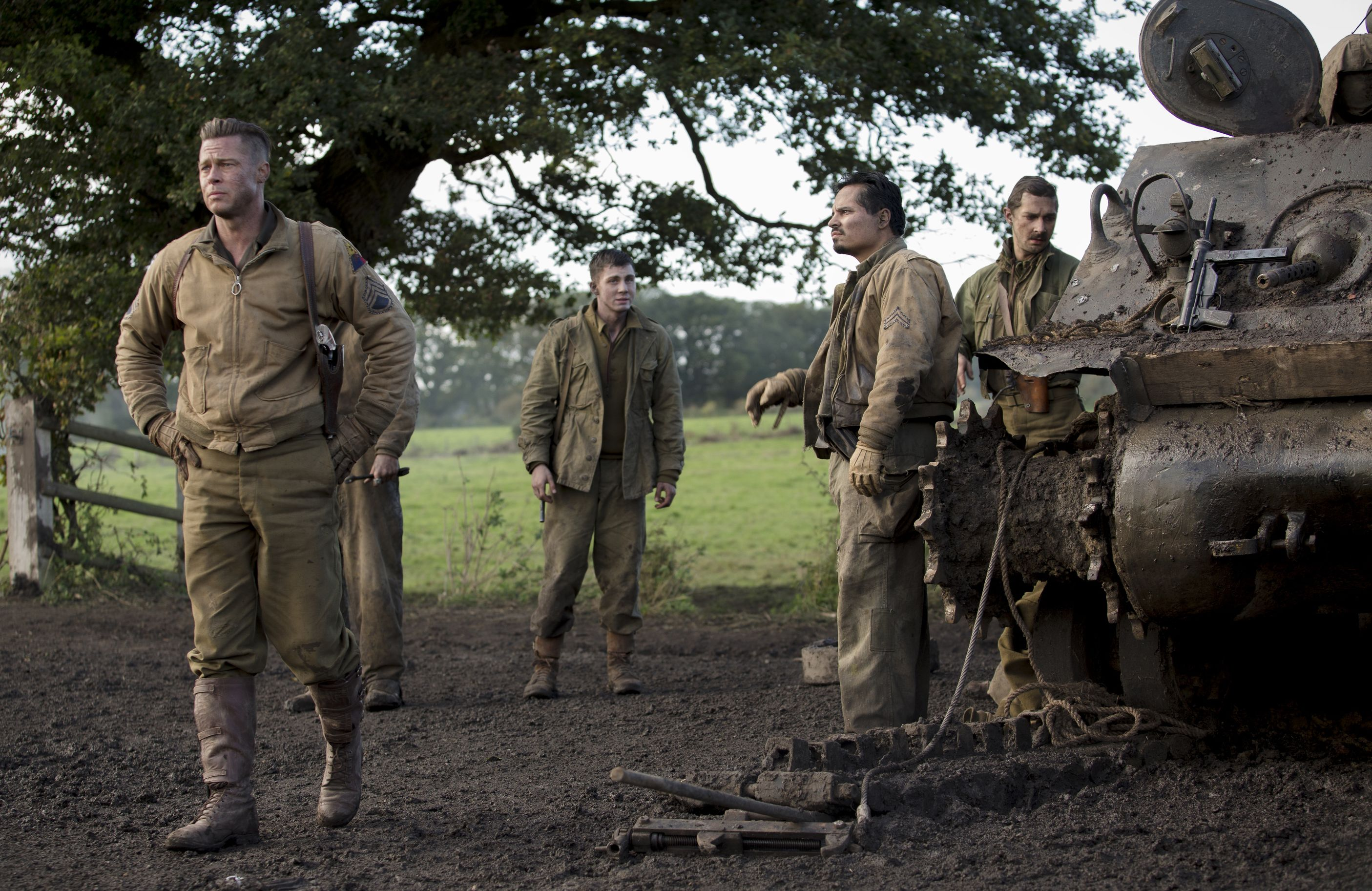 Brad Pitt and his crew in Fury