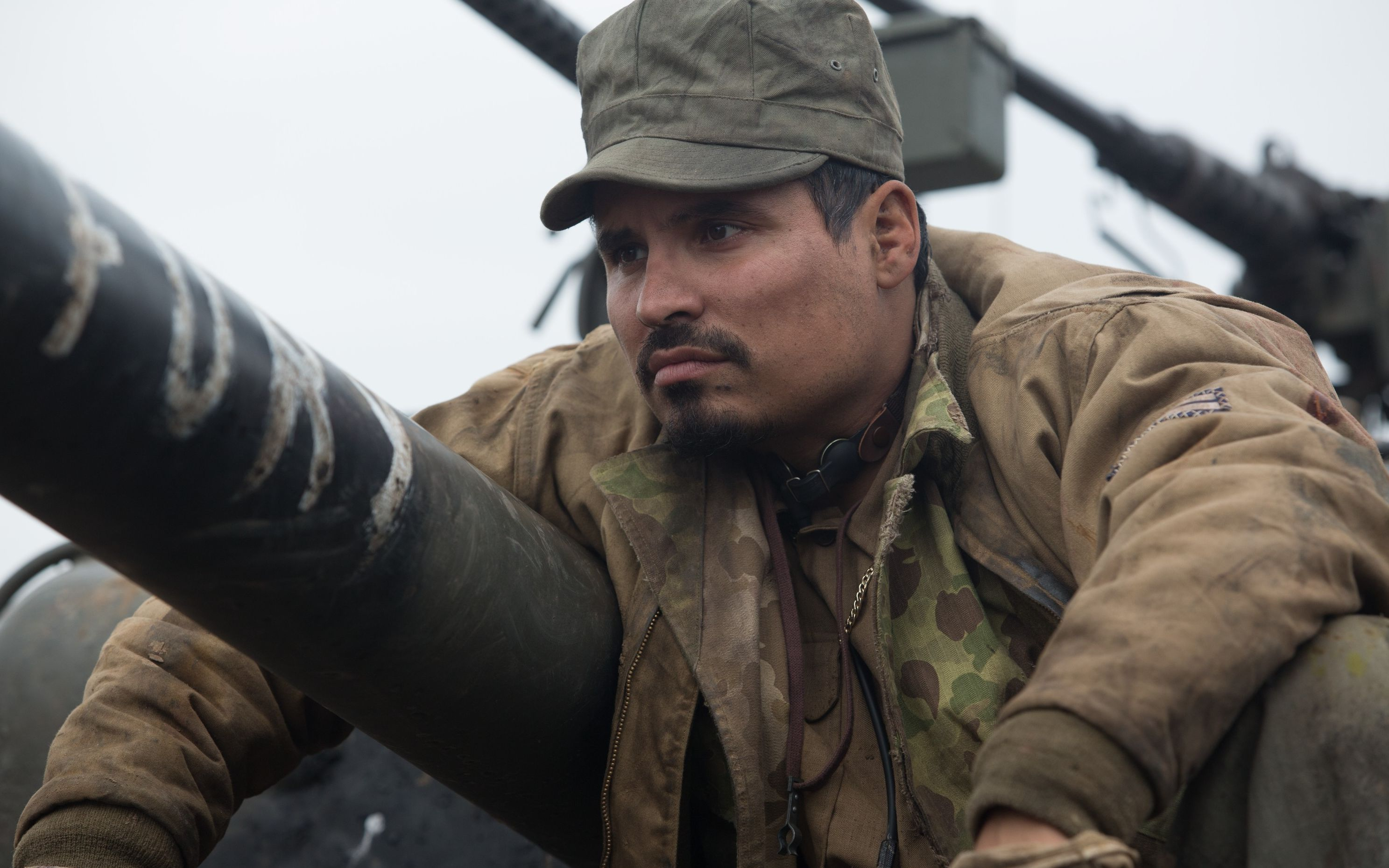 Michael Pena close-up as Gordo Trini Garcia in Fury