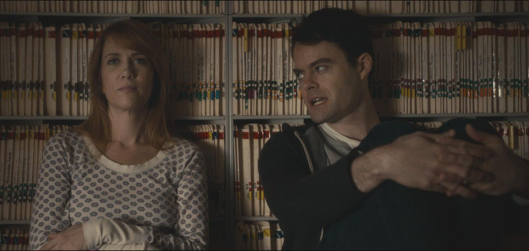 Talking in front of some files, The Skeleton Twins