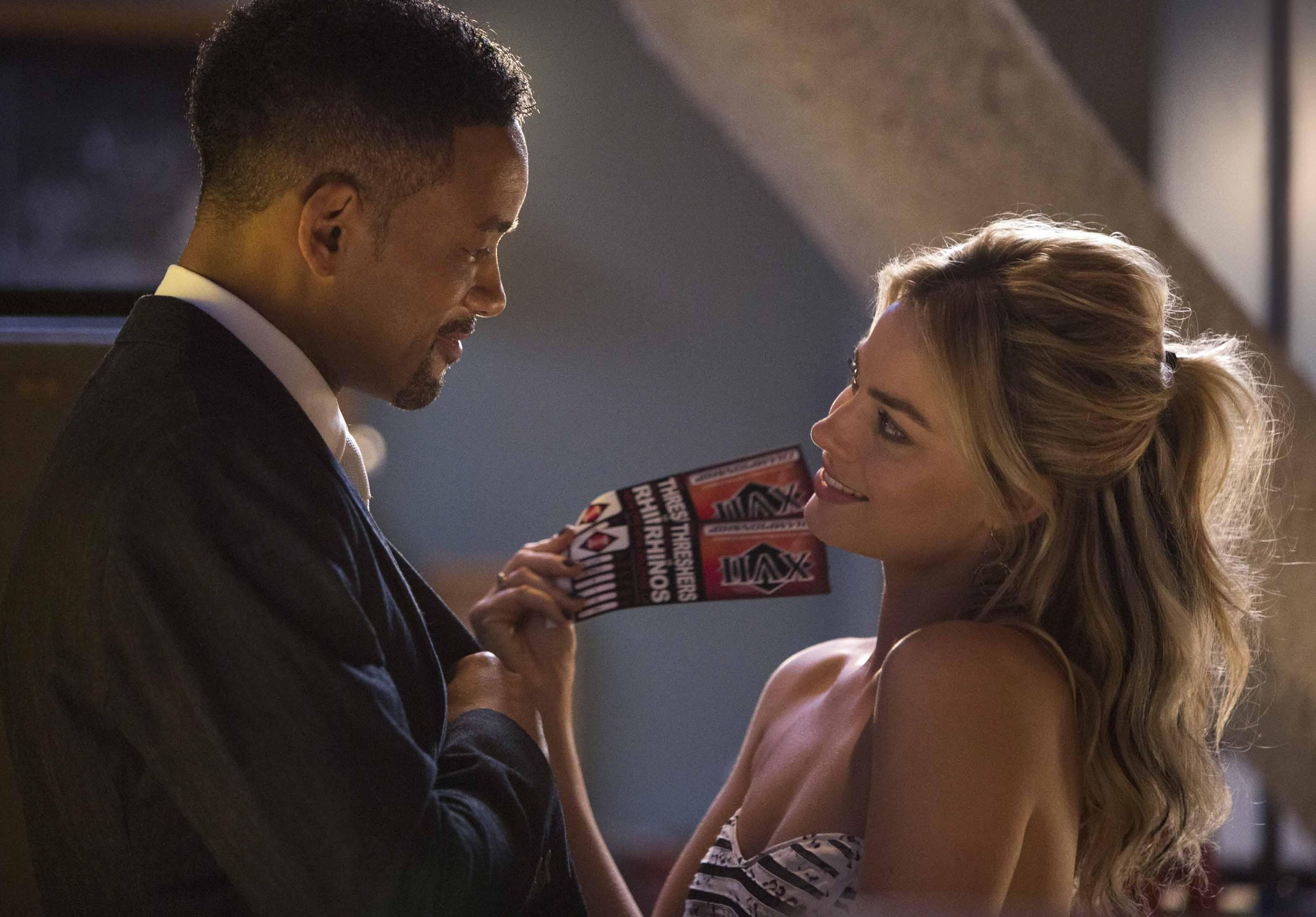 Will Smith and Margot Robbie and some Threshers Rhinos ticke