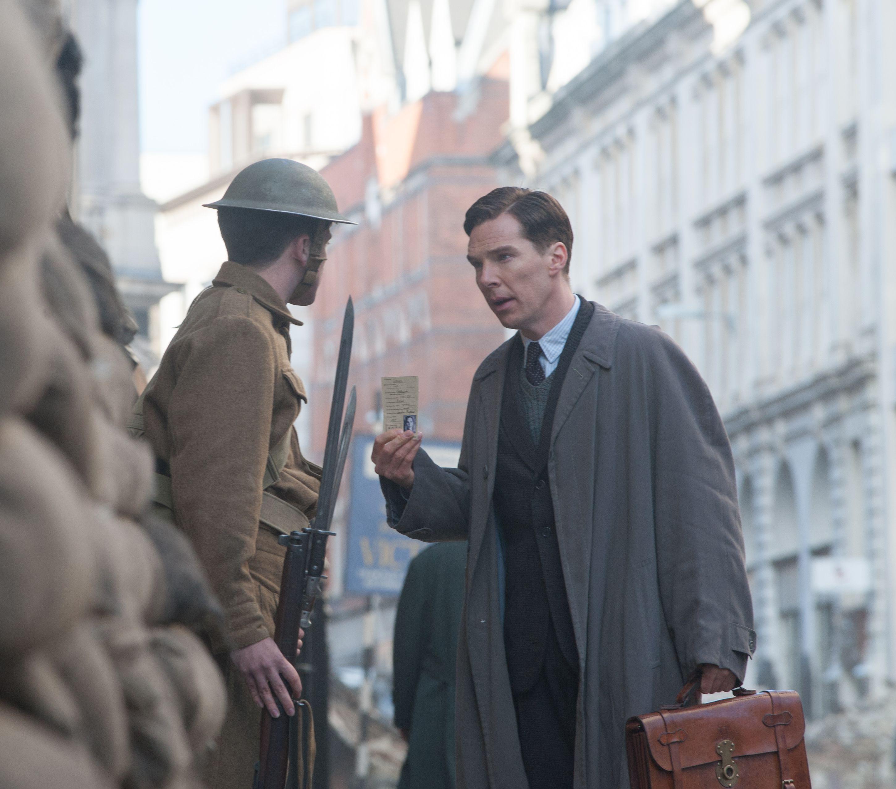 Benedict Cumberbatch during wartime, The Imitation Game