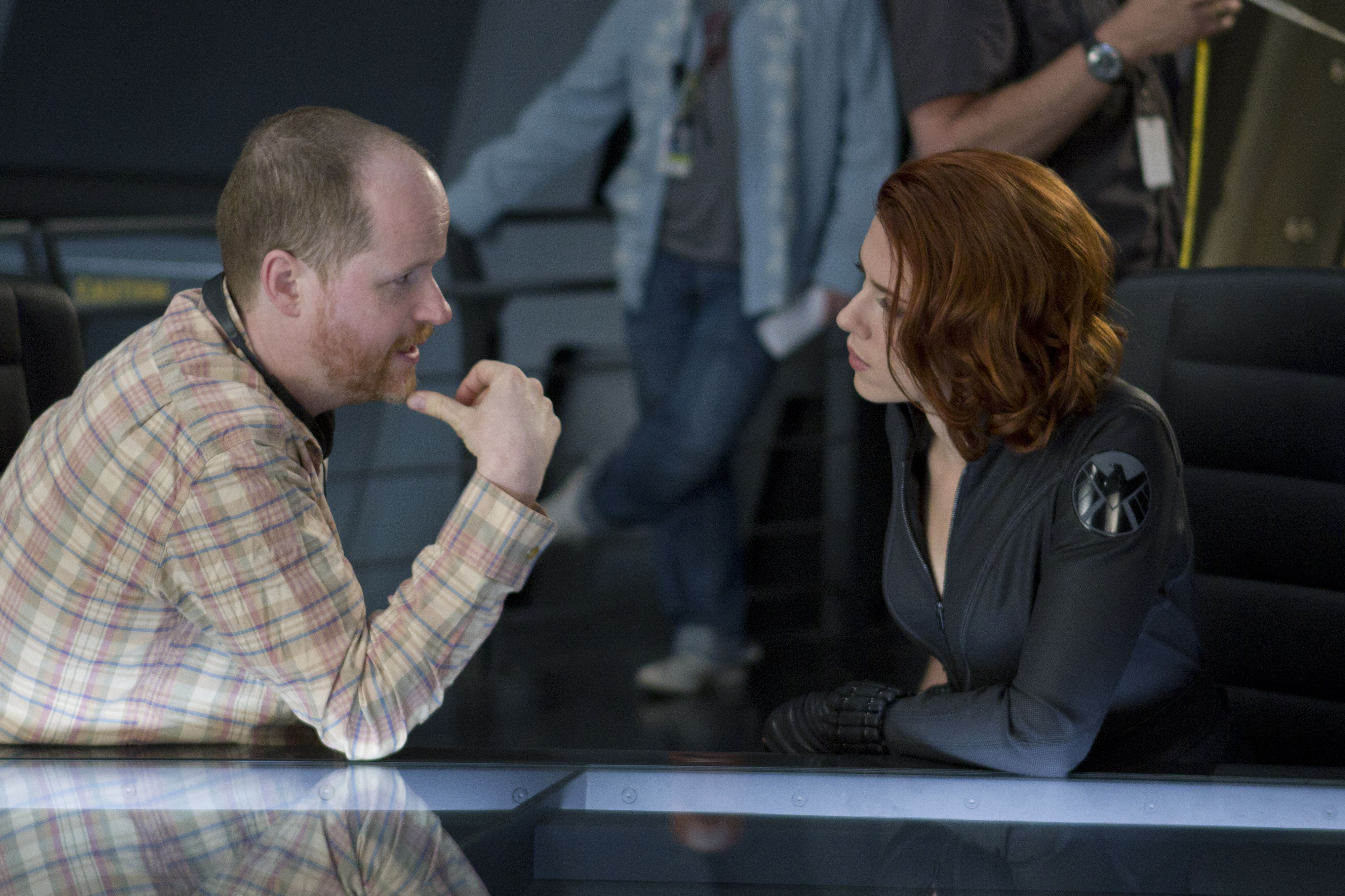 Joss Whedon behind the scenes with Scarlett Johansson, The A