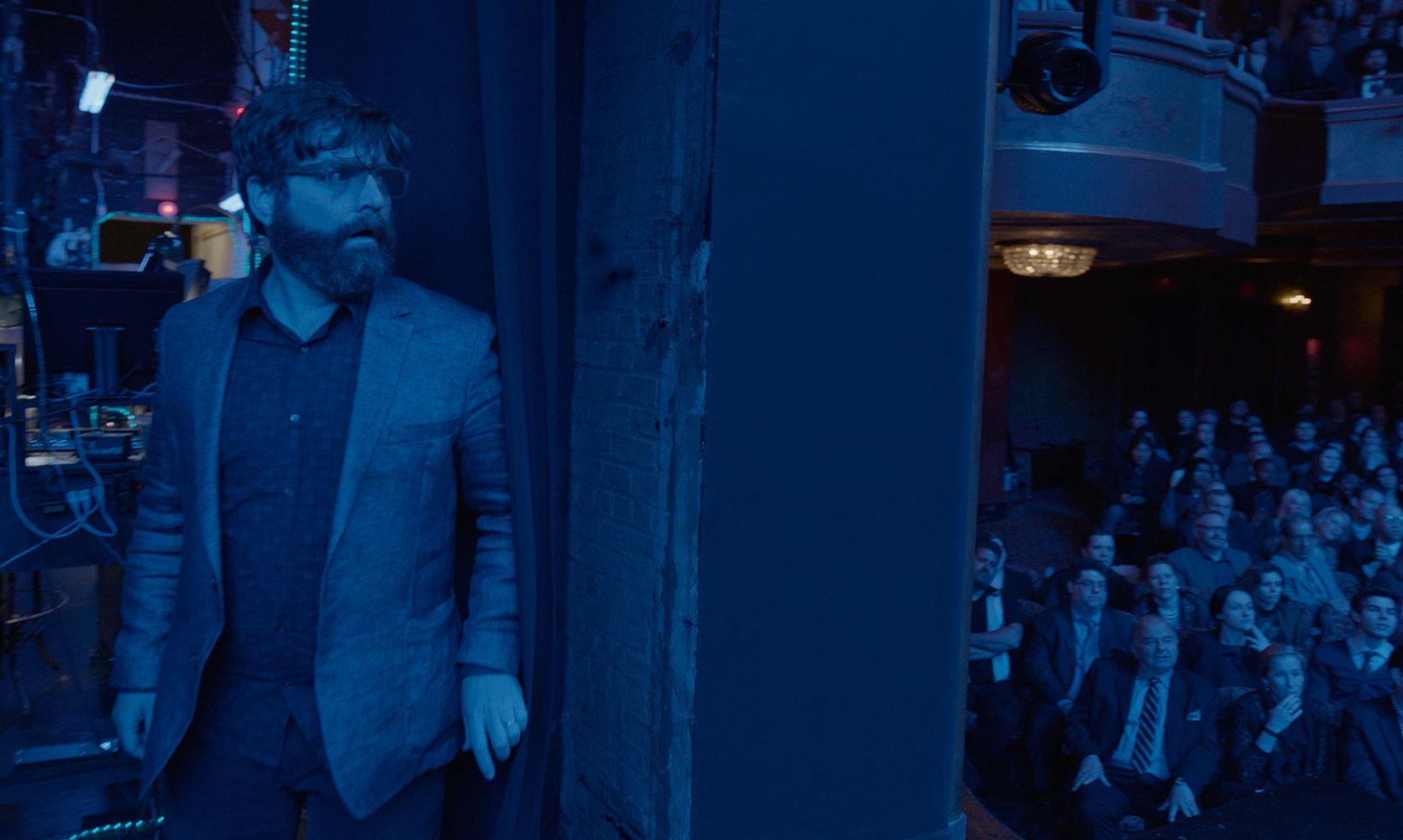 Zach Galifianakis as Jake backstage in Birdman