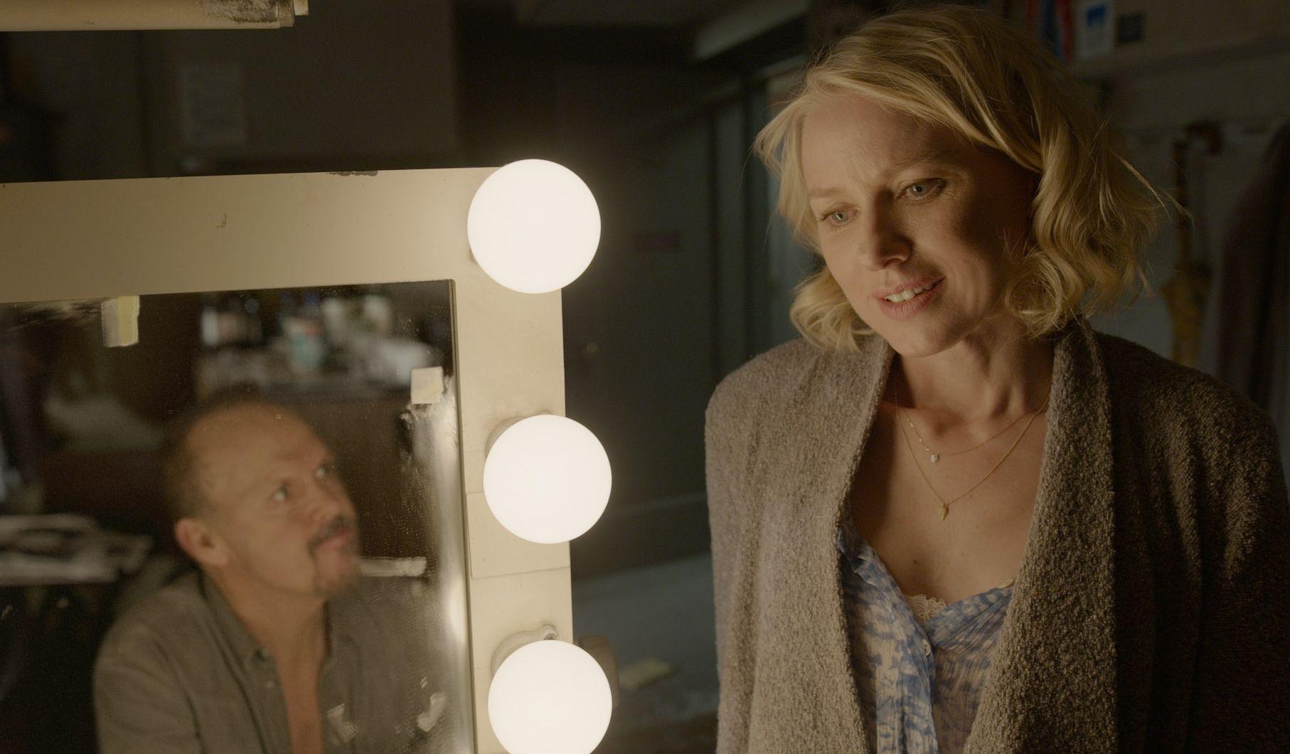 Michael Keaton and Naomi Watts backstage - Birdman