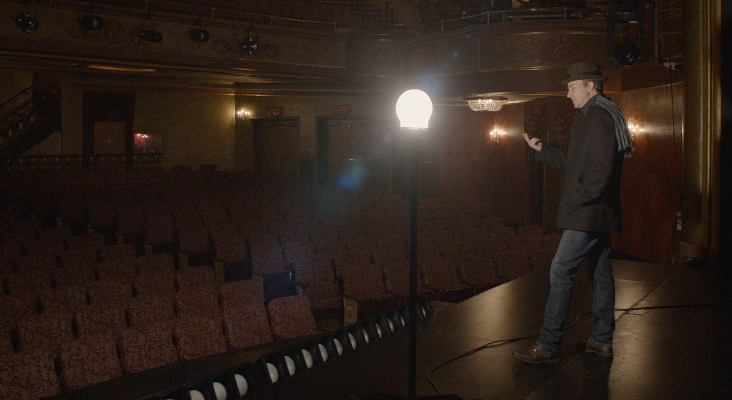 Edward Norton as Mike on stage in Birdman