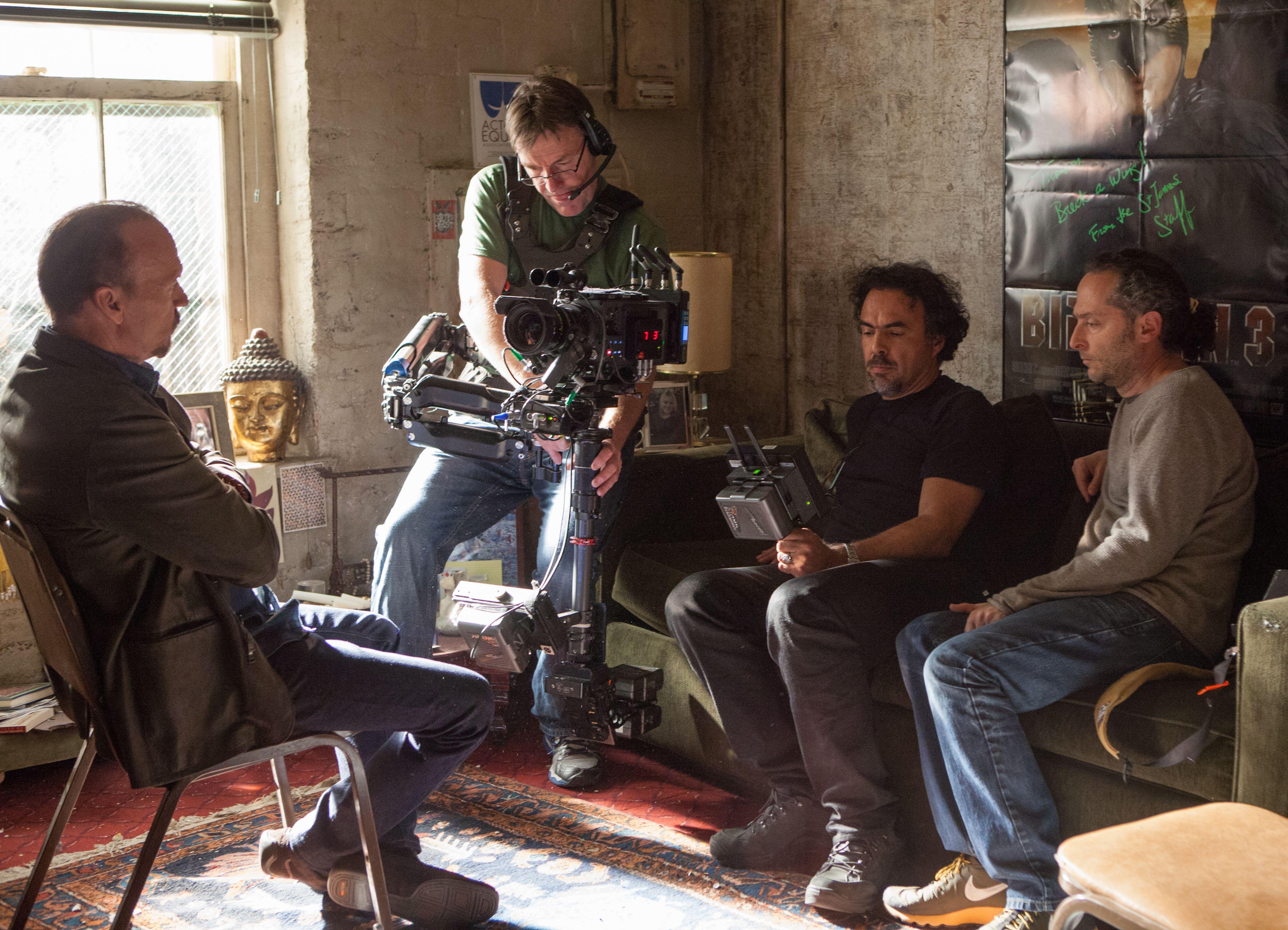 Alejandro González Iñárritu filming Birdman