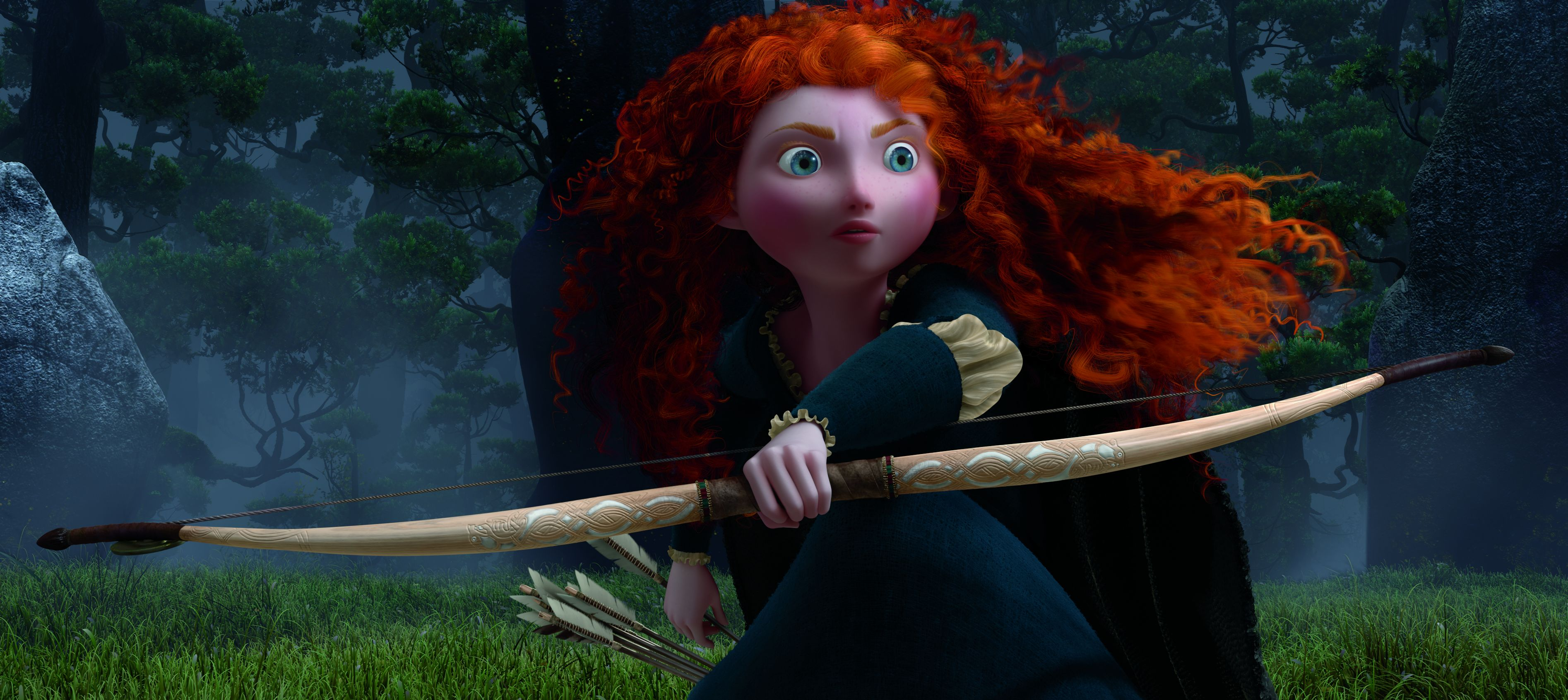 Merida up and close in Brave