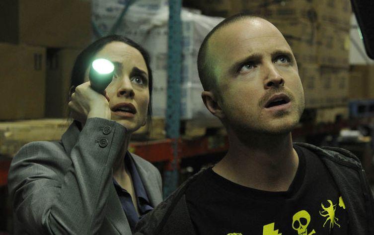 Laura Fraser and Aaron Paul in Breaking Bad