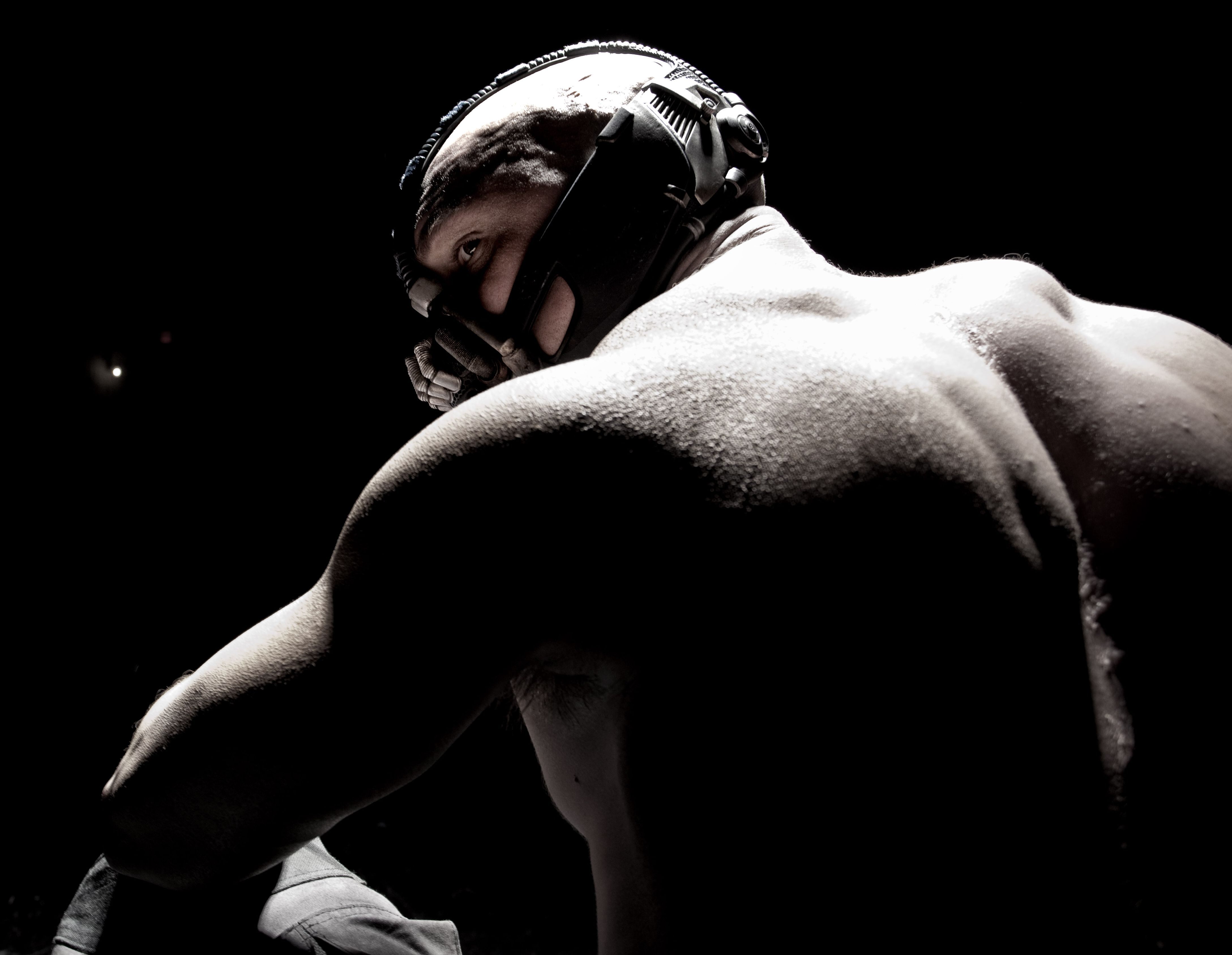 Bane's back - Tom Hardy in The Dark Knight Rises