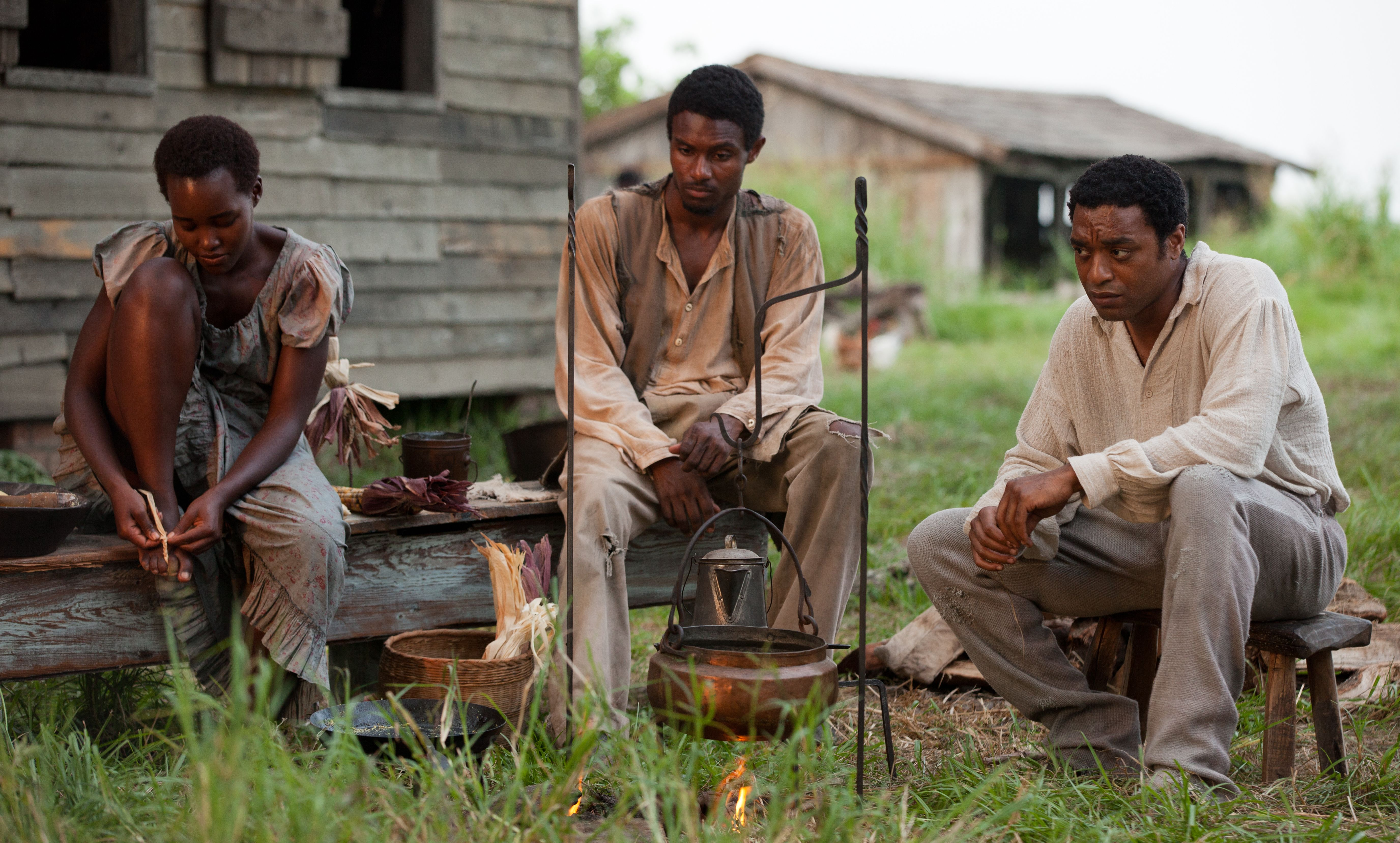 Solomon Northup among other slaves