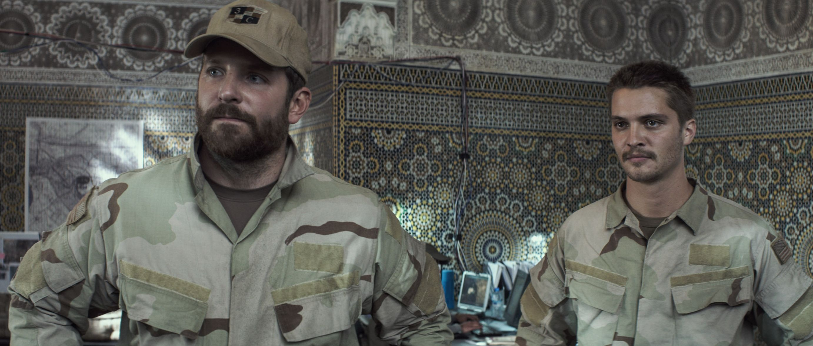 Brian Hallisay and Bradley Cooper in American Sniper | Cultjer