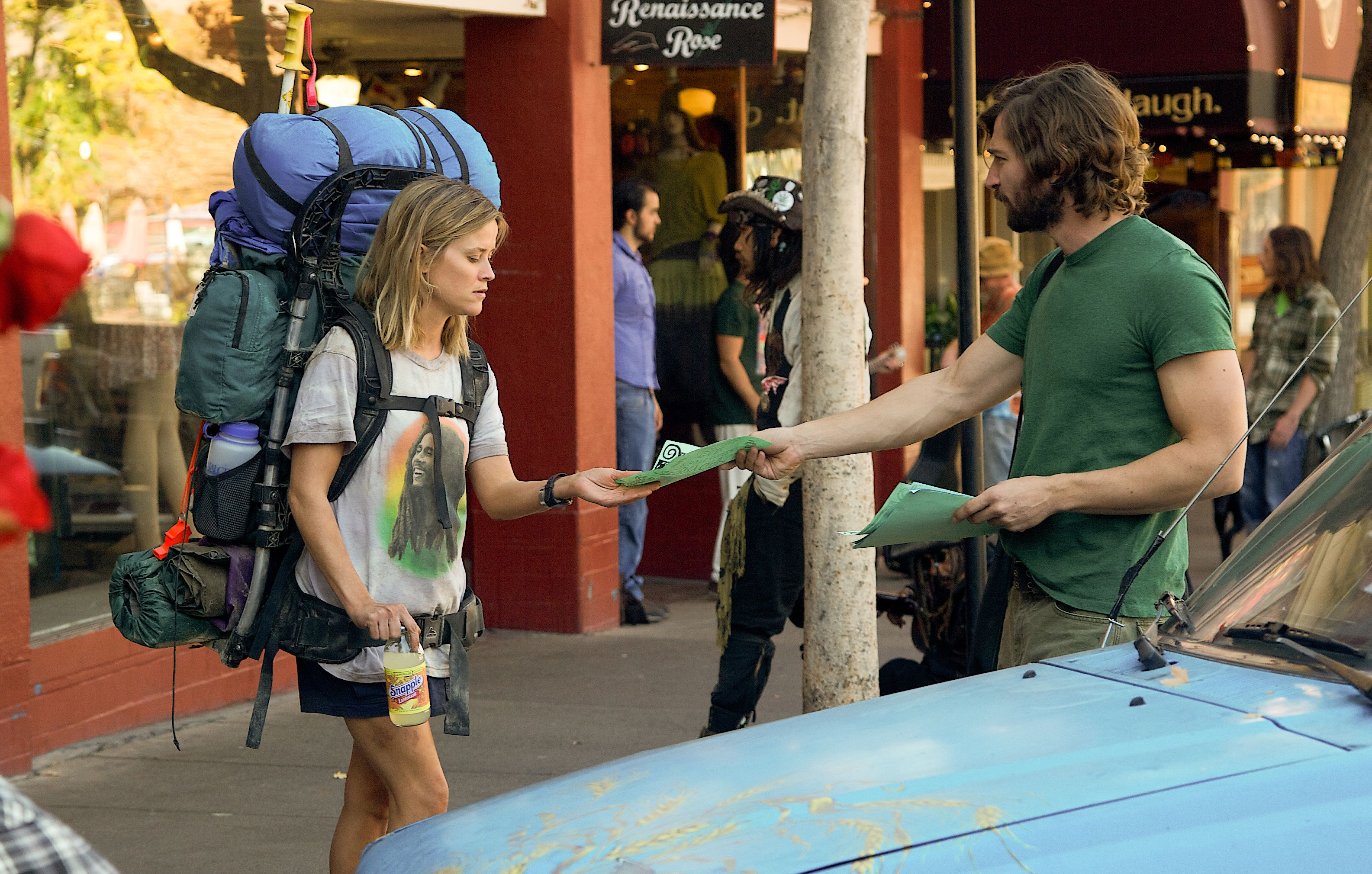 Reese Witherspoon and Michiel Huisman on the street in Wild