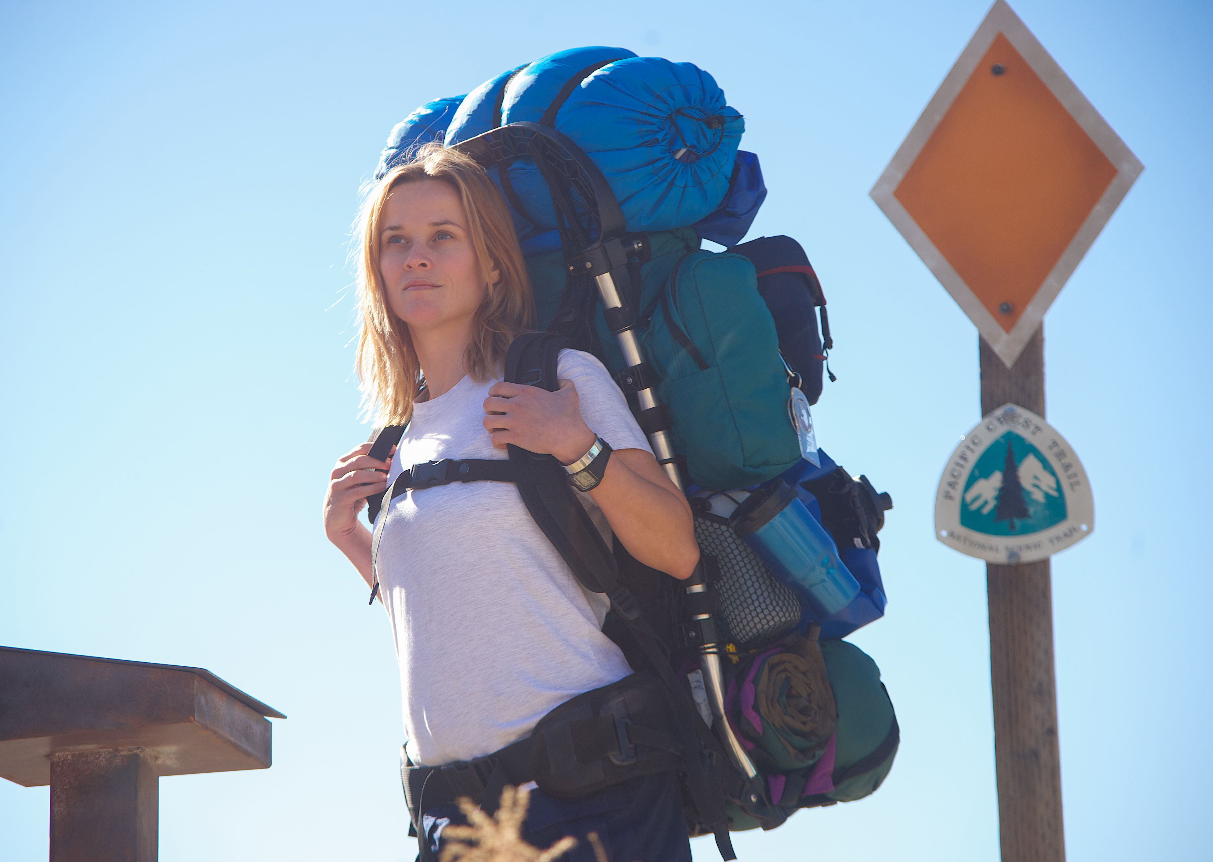 Reese Witherspoon backpacking in Wild