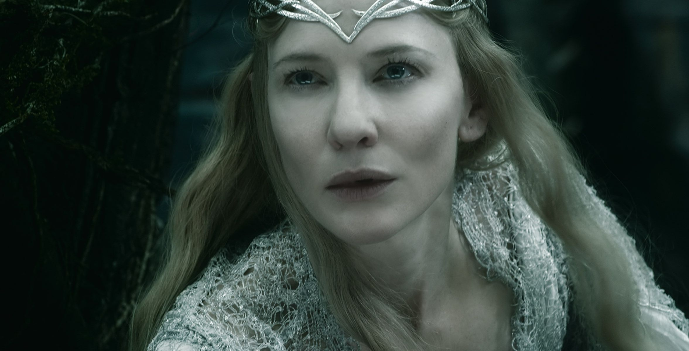 Cate Blanchett as Galadriel close-up - The Battle of the ... Cate Blanchett Movies