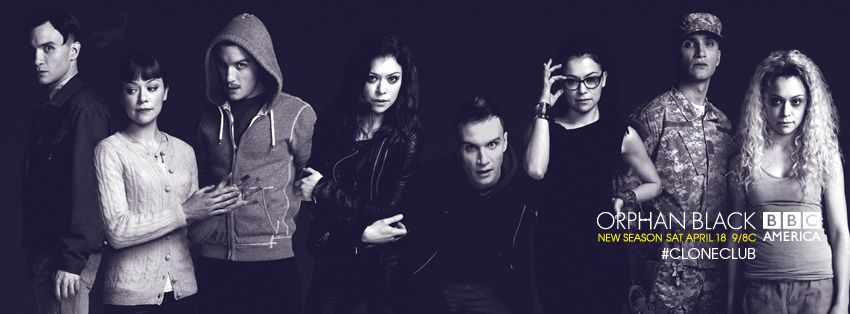 The 8 clones - Orphan Black Season 3 banner
