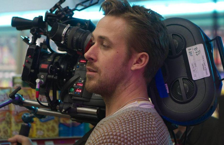 Ryan Gosling on set