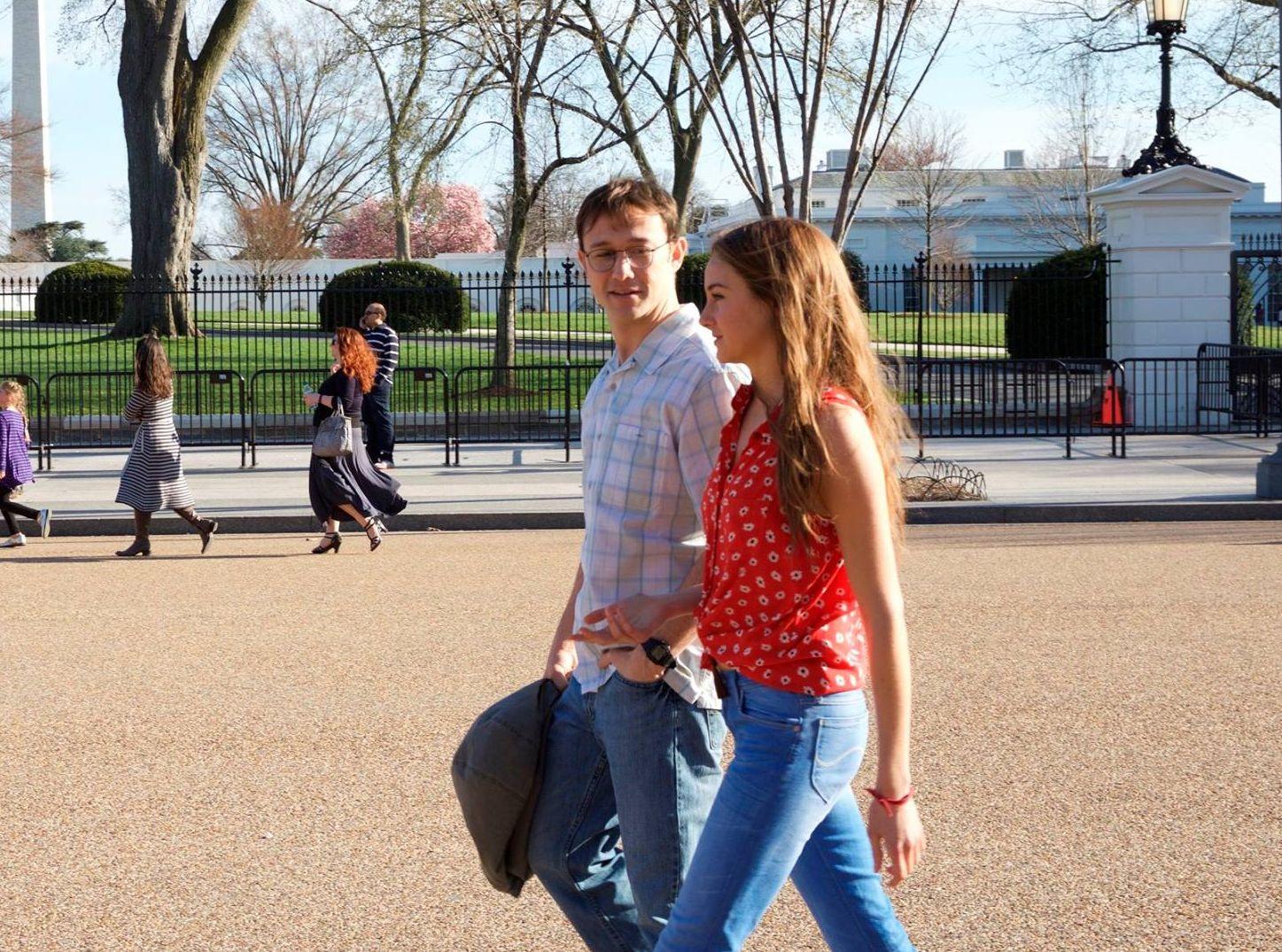 Shailene Woodley and Joseph Gordon-Levitt in Snowden biopic