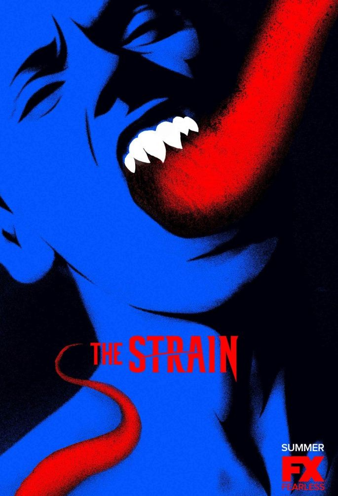 The Strain Season 2 Red/Blue Strigoi Poster