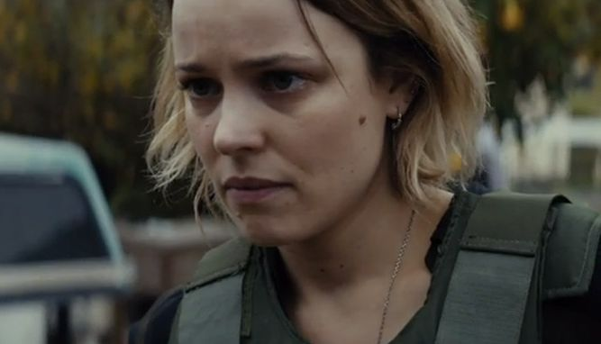 Close-up of Rachel McAdams in True Detective