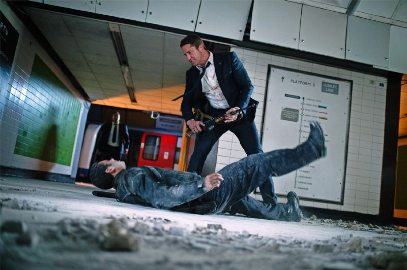 First Look at Gerard Butler Kicking Ass in 'London Has Falle