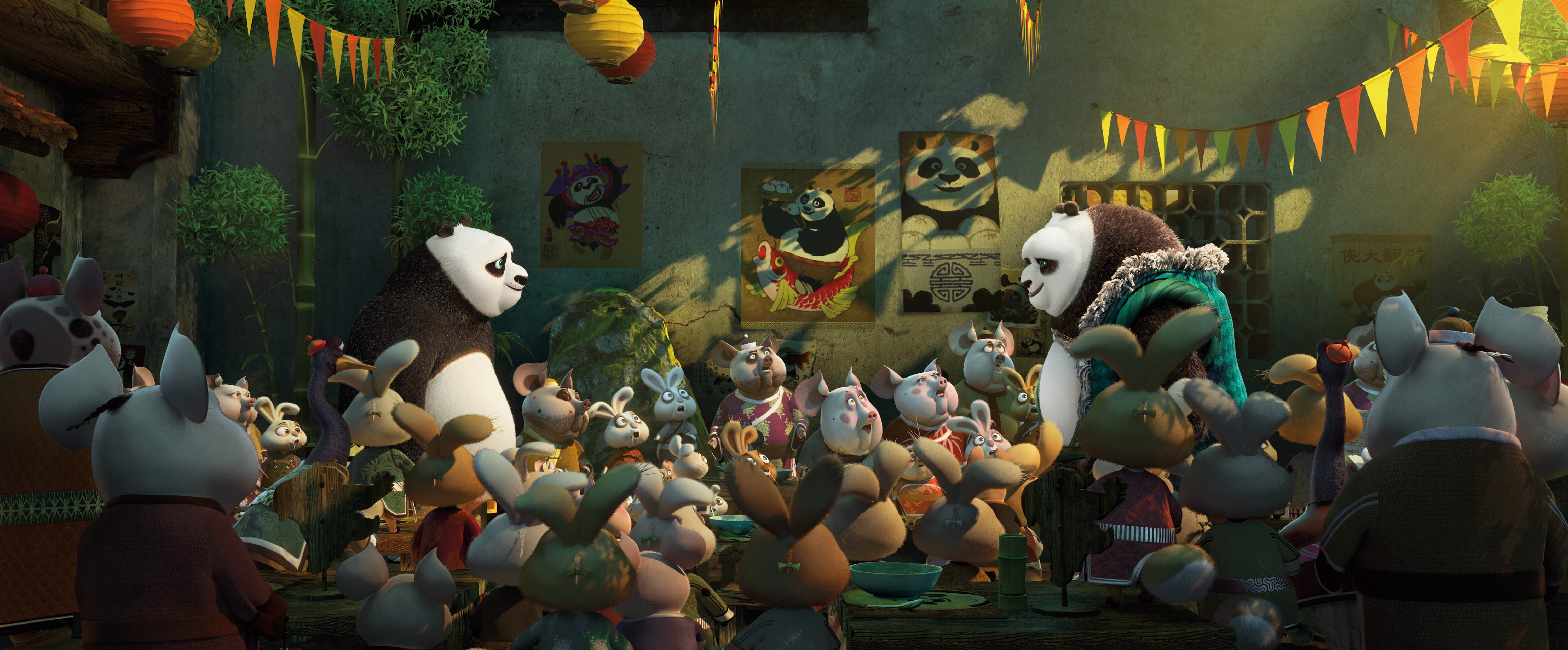 Po and co. in Kung Fu Panda 3