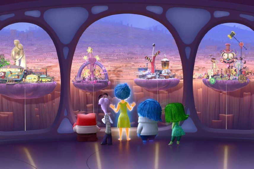 Characters of 'Inside Out' Look Out Onto Riley's Memories
