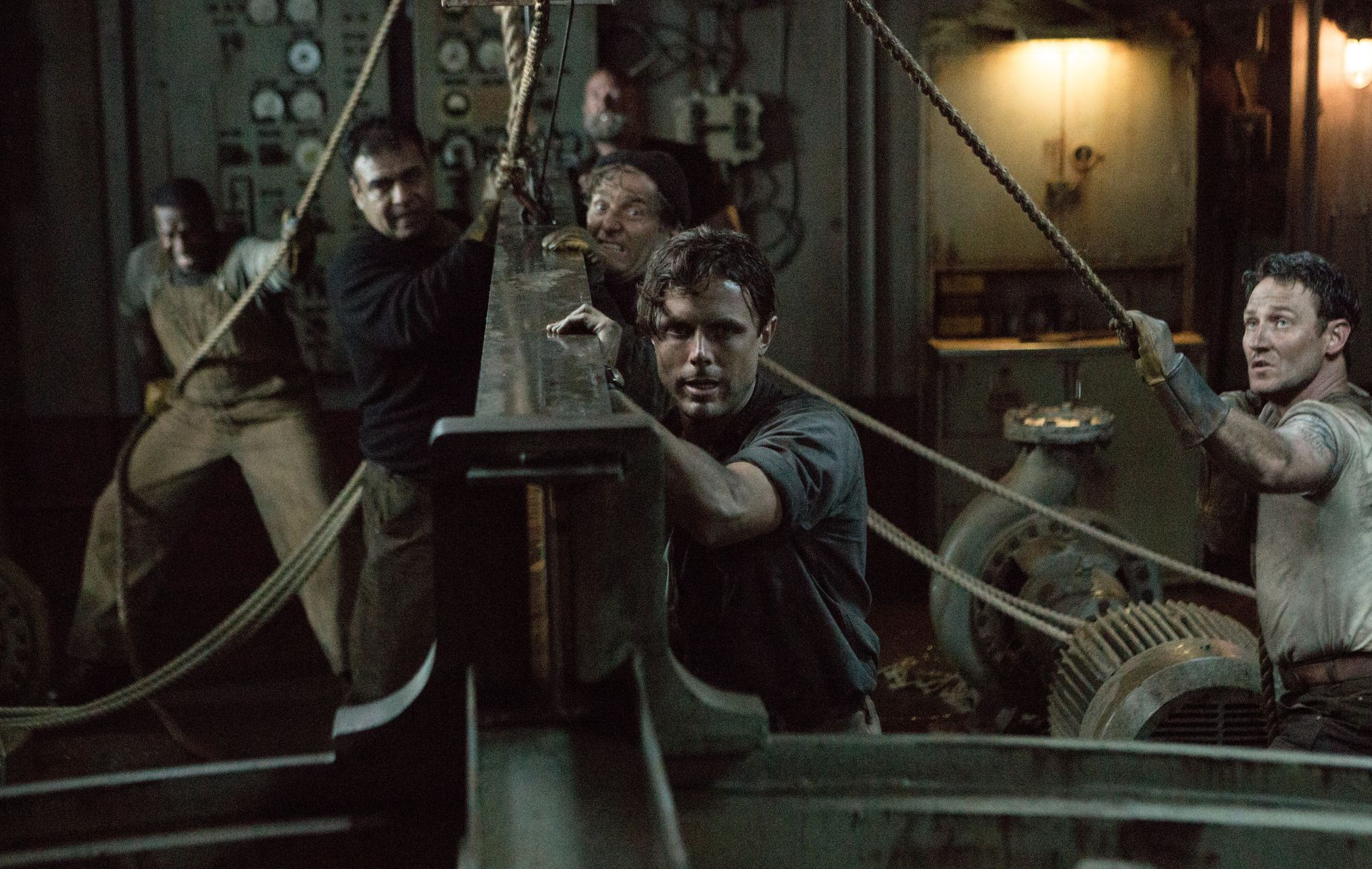 Casey Affleck on boat in The Finest Hours