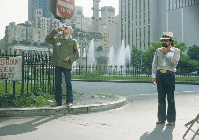 Robert De Niro and Martin Scorsese behind-the-scenes of Taxi