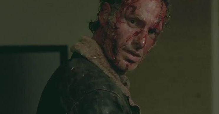 Bloody Rick in Walking Dead Season 6