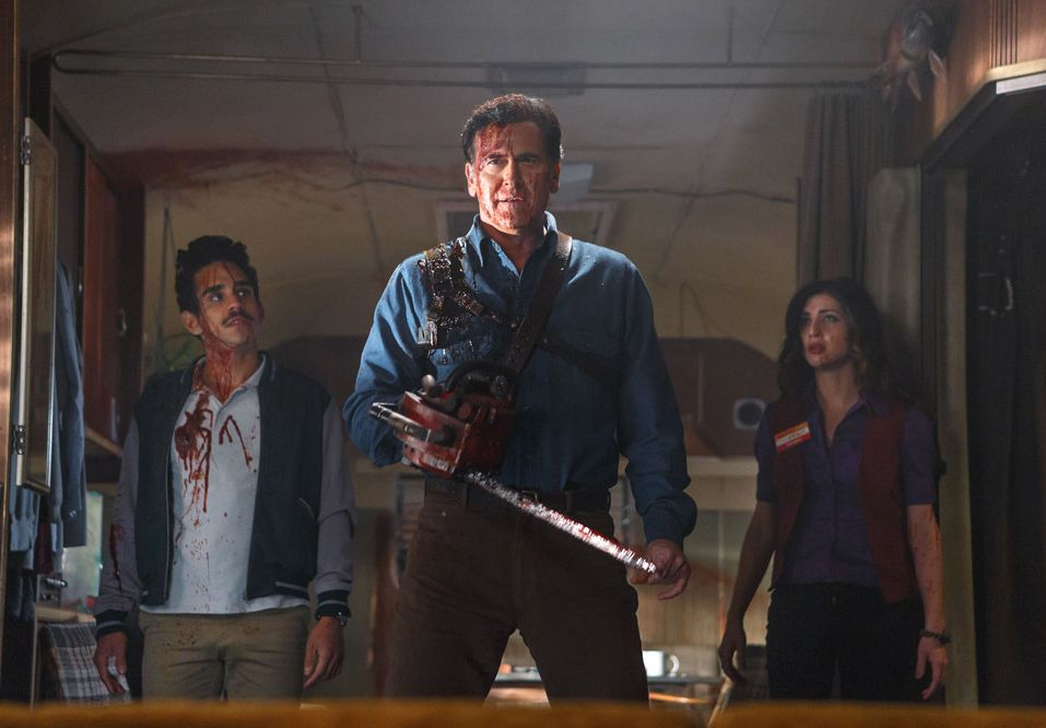 High-red 'Ash vs. Evil Dead' Chainsaw Photo