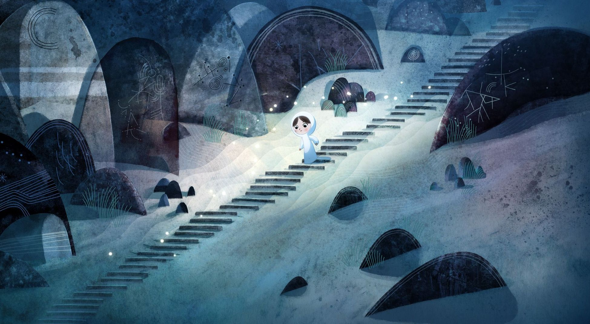 Beautiful blue in Song of the Sea