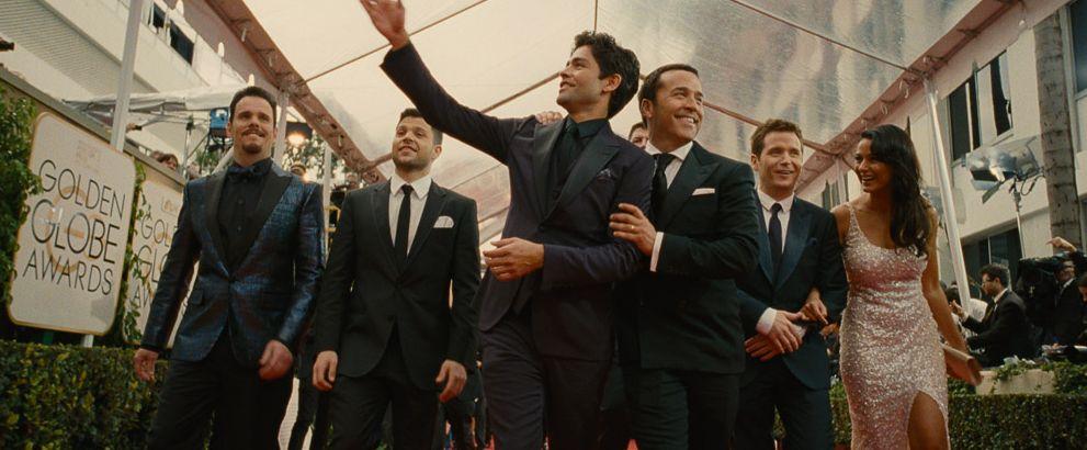 The boys at Golden Globe red carpet