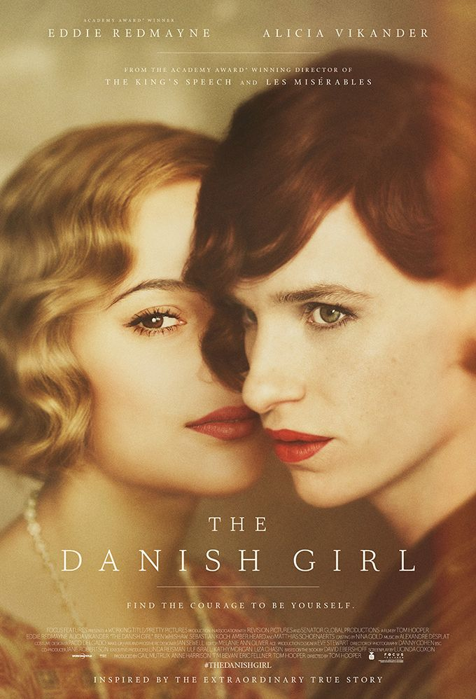 Eddie Redmayne and Alicia Vikander, The Danish Girl Poster