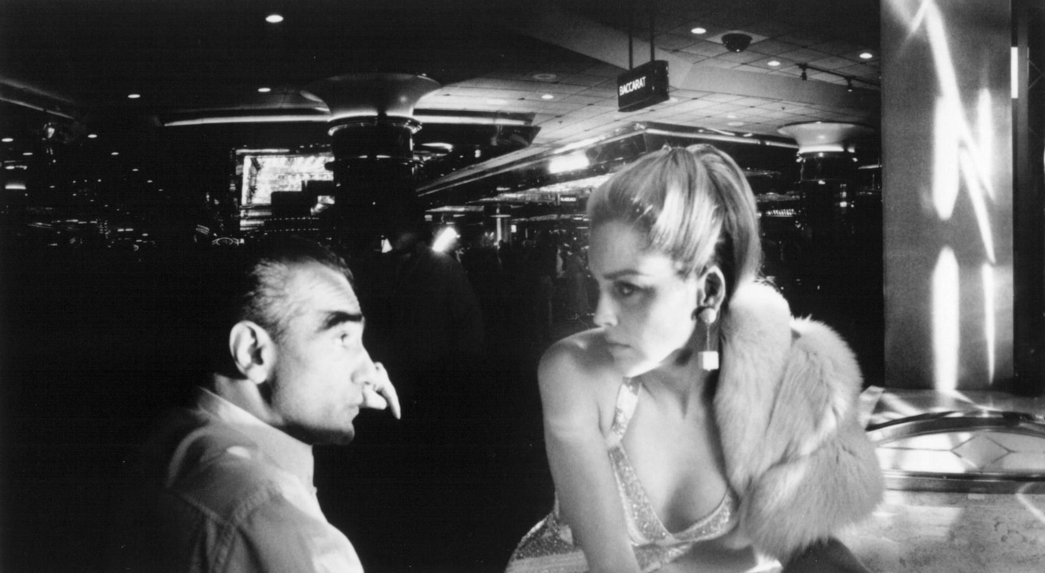 Martin Scorsese On-Set With Sharon Stone