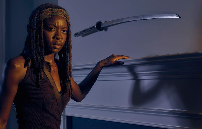 Danai Gurira as Michonne in The Walking Dead, Season 6