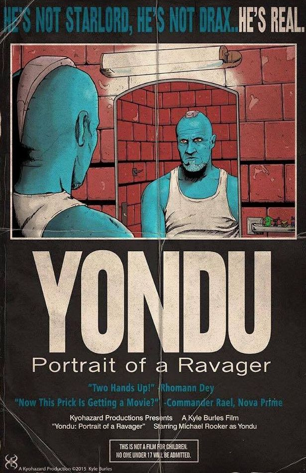 Michael Rooker wants a Yondu spinoff. Sends this poster to D