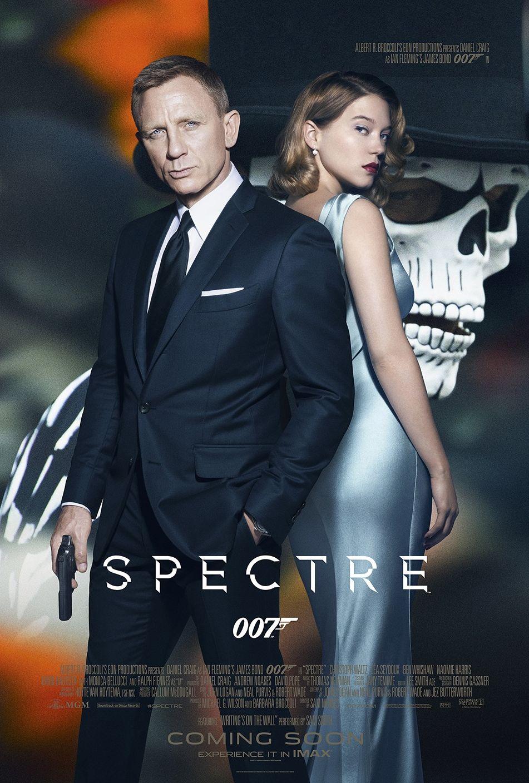 Bond Spectre Skull Poster with Daniel Craig and Léa Seydoux
