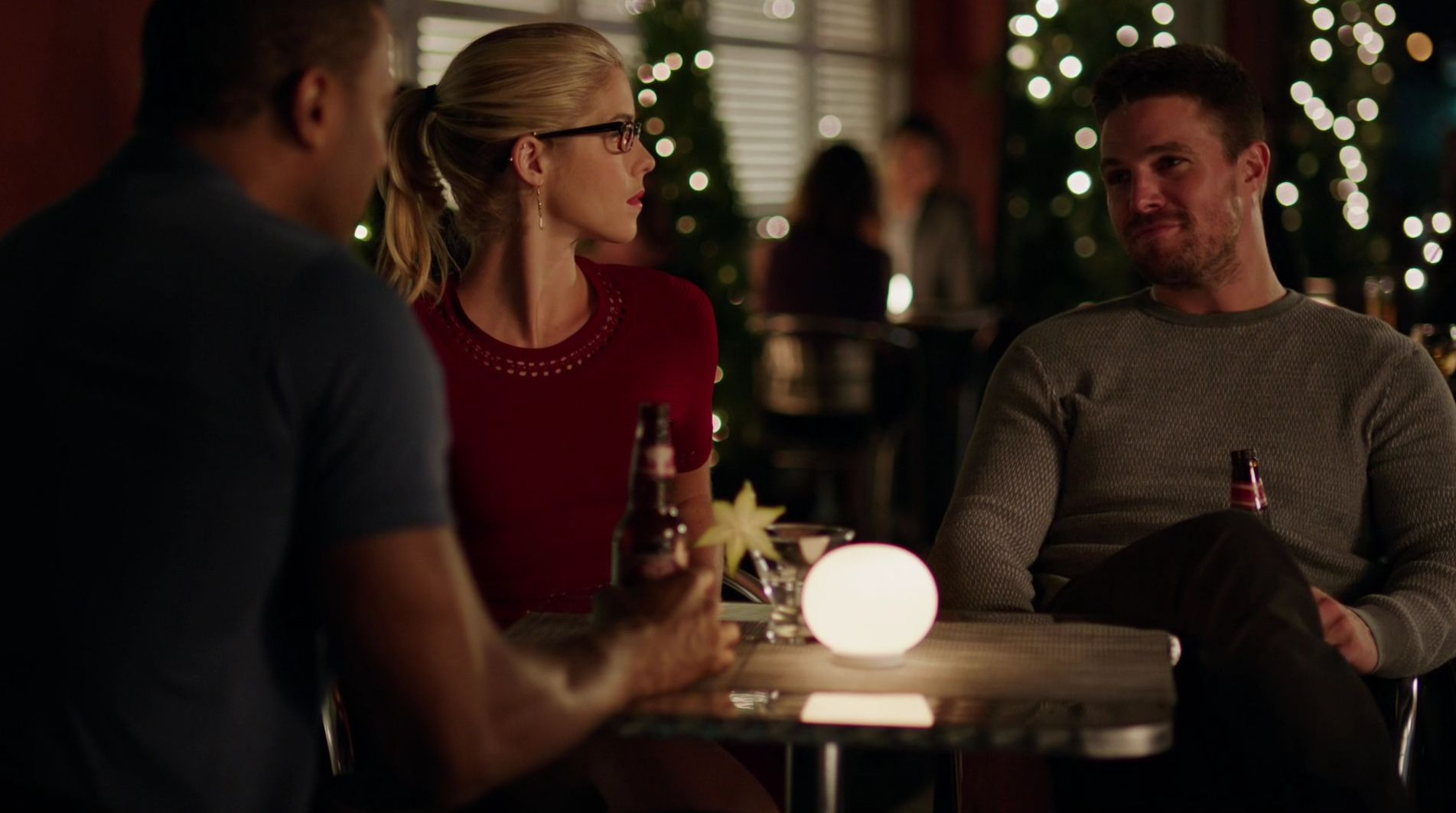 Original Team Arrow: John Diggle, Felicity Smoak, Oliver Que