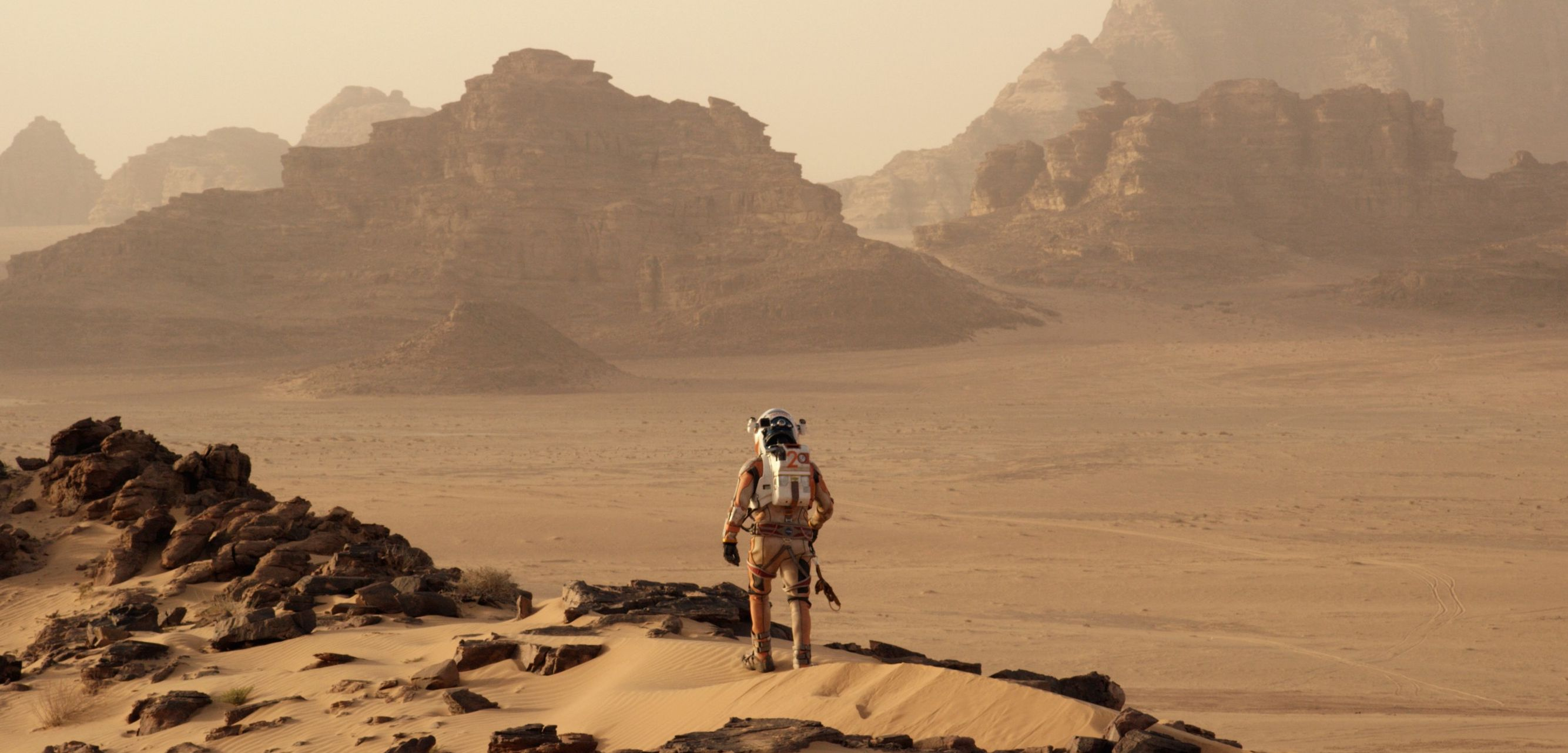 Looking over Mars in Andy Weir's film adaptation of The Ma