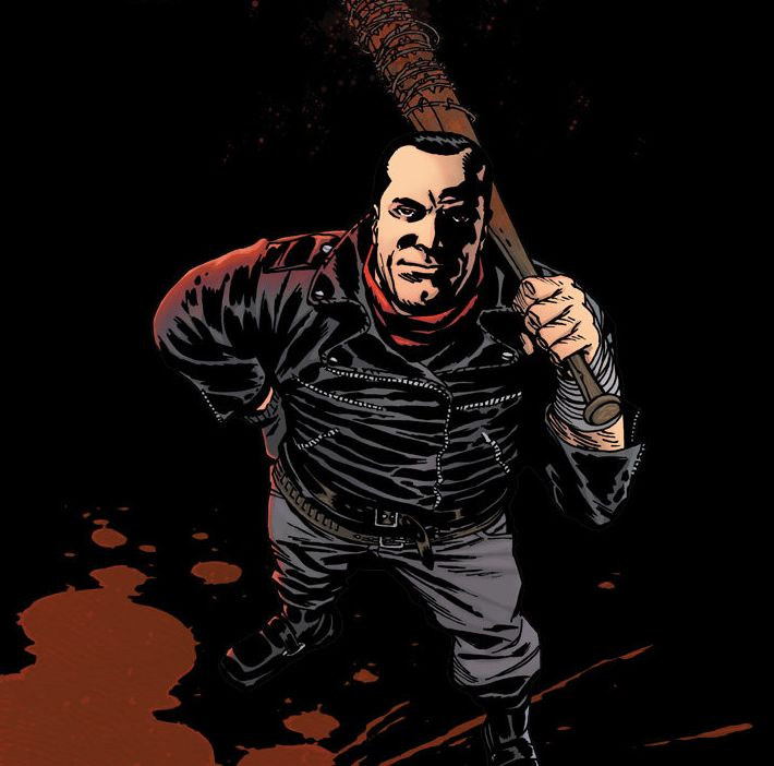 Negan as seen in the comic series