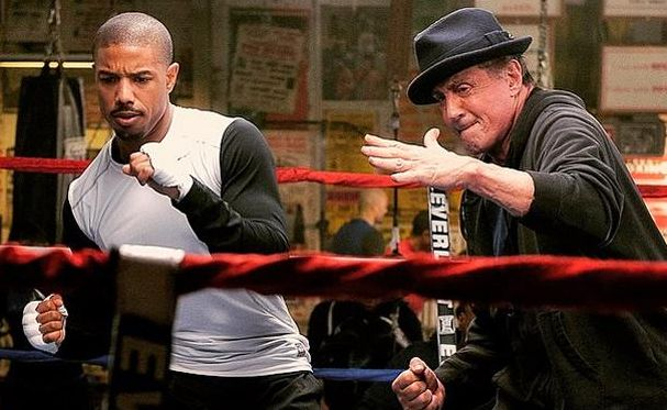 "Michael B. Jordan and Sylvester Stallone in ""Creed"""