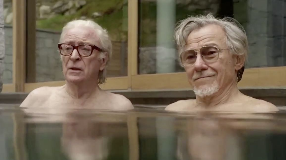 "Michael Caine and Harvey Keitel in ""Youth"""