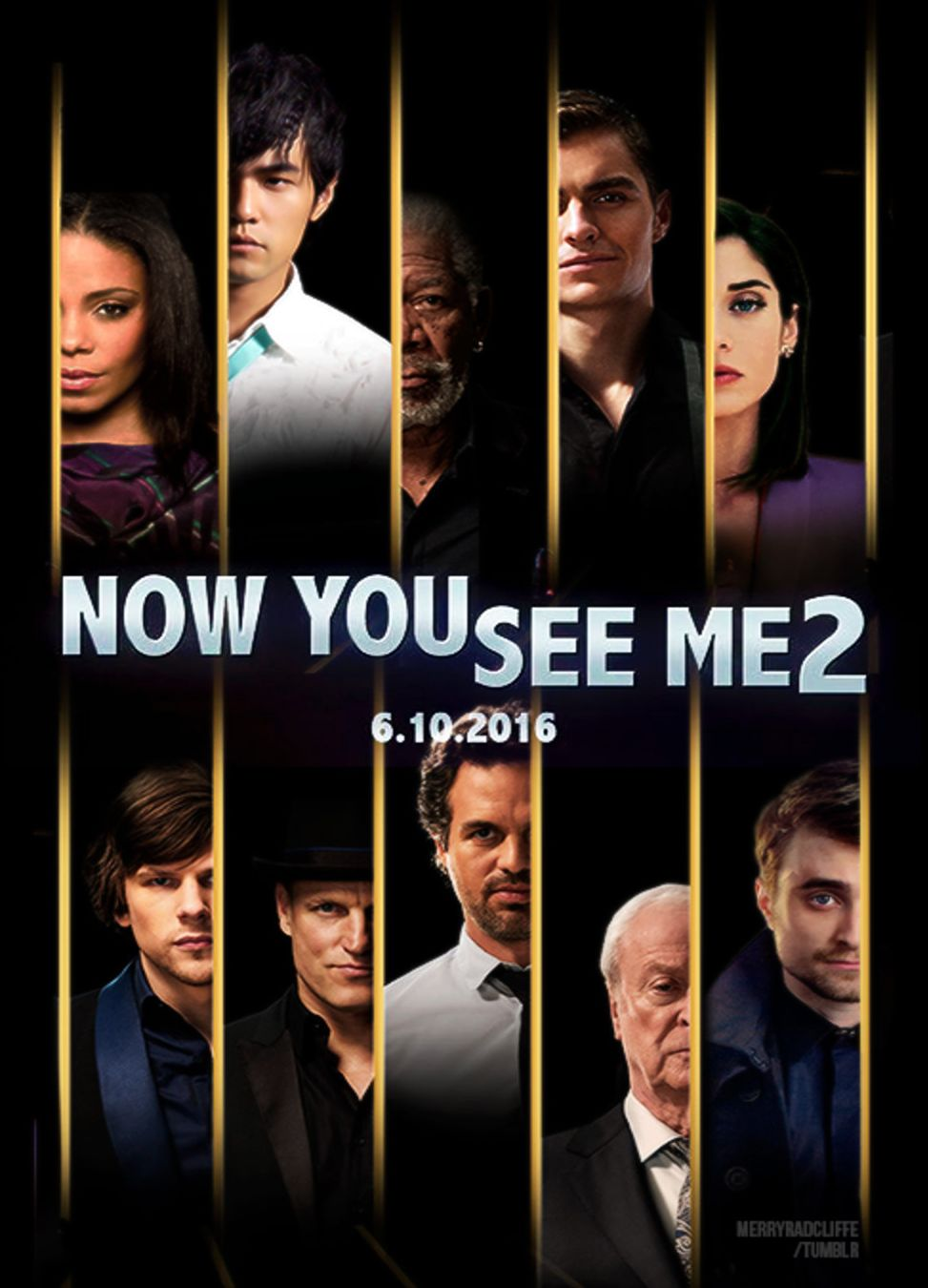 Now You See Me 2 Black Poster