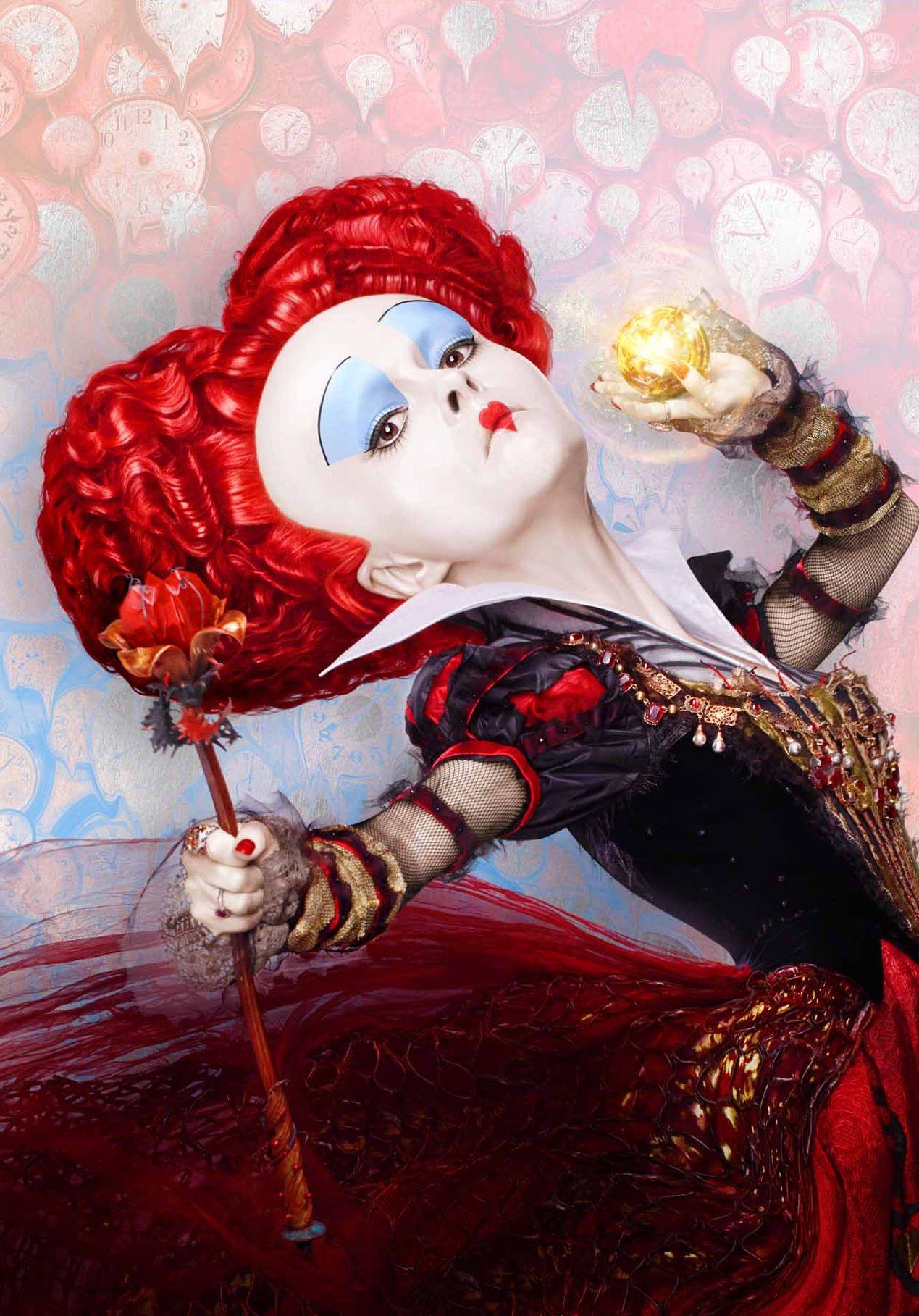 Helena Bonham Carter as the Red Queen