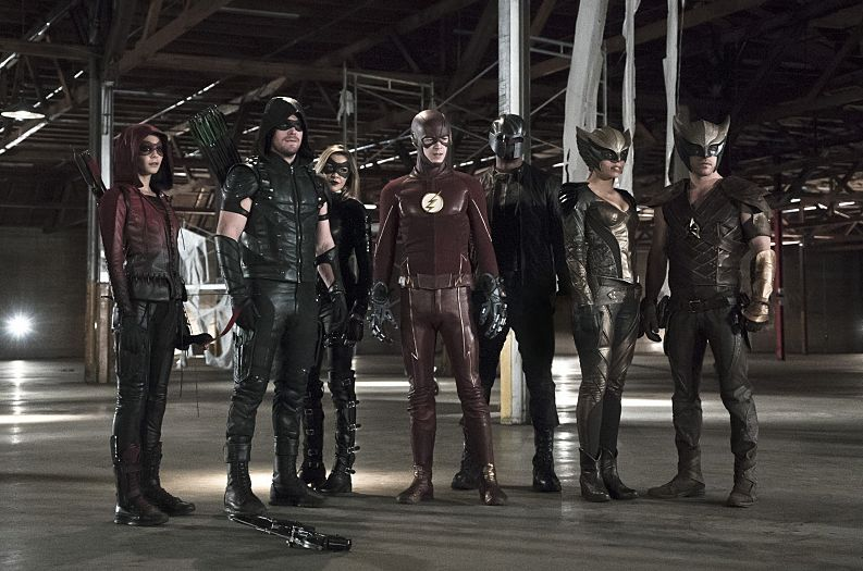 Masked heroes from The Flash and Arrow