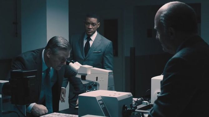 "Alec Baldwin, Will Smith and Albert Brooks in ""Concussion"""